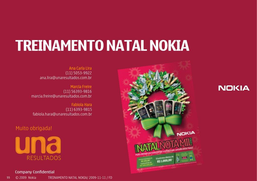 TREINAMENTO NATAL NOKIA