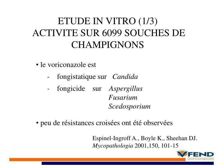 ETUDE IN VITRO (1/3)