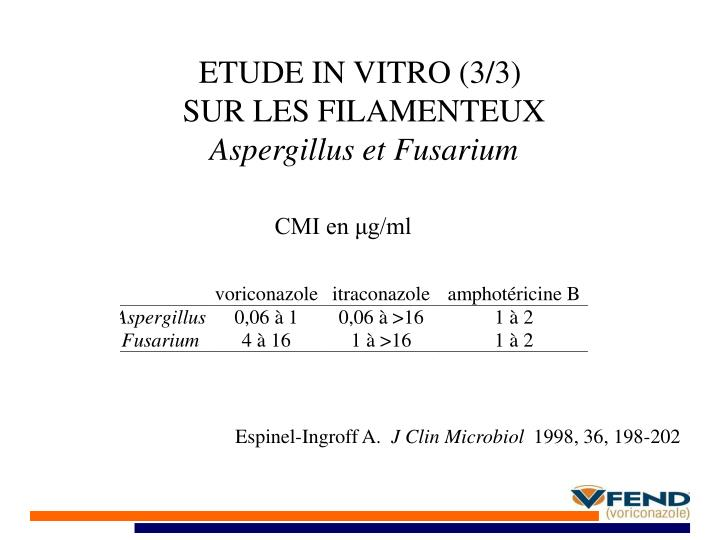 ETUDE IN VITRO (3/3)