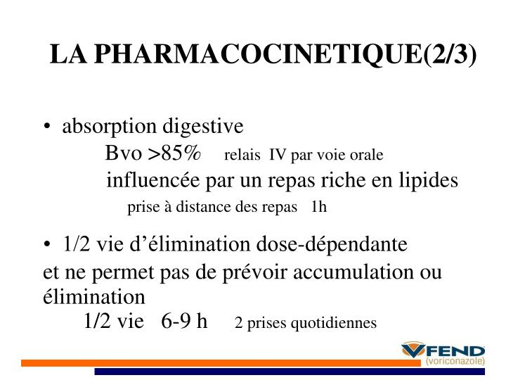 LA PHARMACOCINETIQUE(2/3)