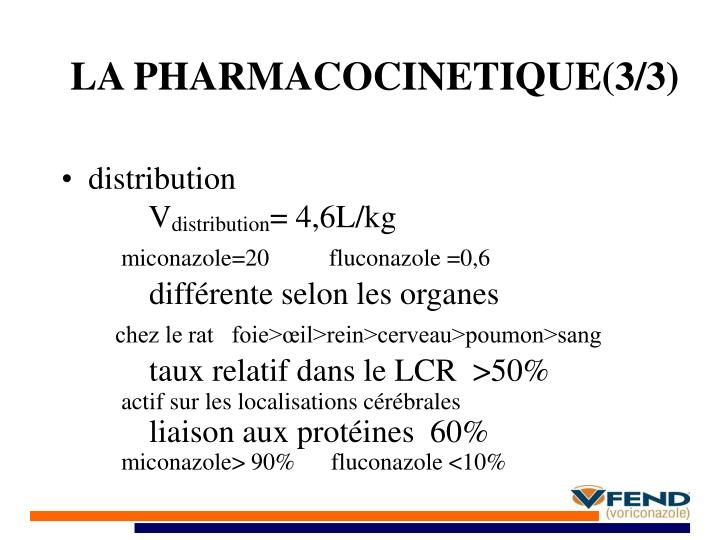 LA PHARMACOCINETIQUE(3/3)