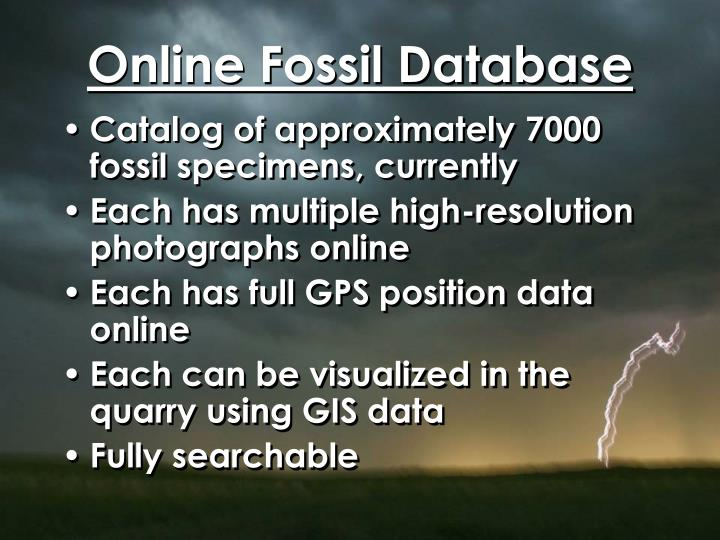 Online Fossil Database