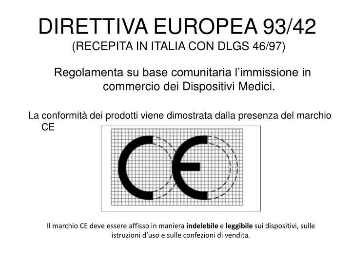 DIRETTIVA EUROPEA 93/42