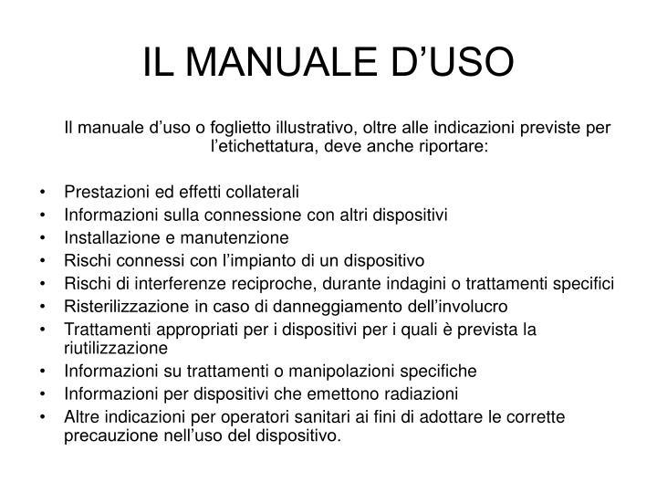 IL MANUALE D'USO