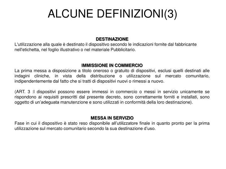 ALCUNE DEFINIZIONI(3)