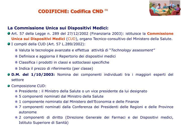 CODIFICHE: Codifica CND