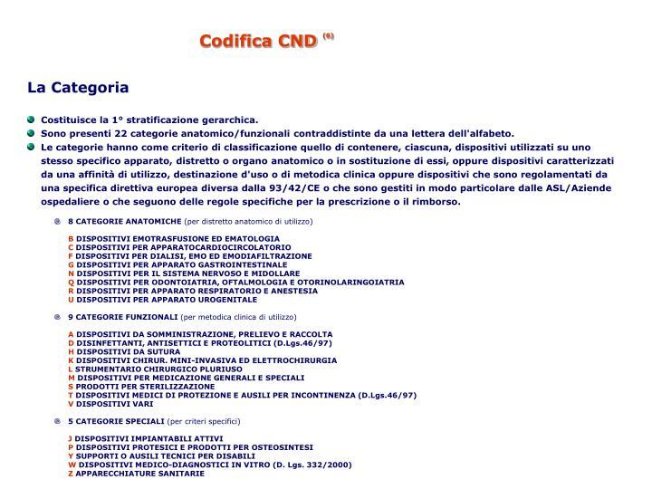 Codifica CND