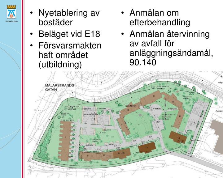 Nyetablering av bostäder