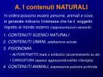a i contenuti naturali