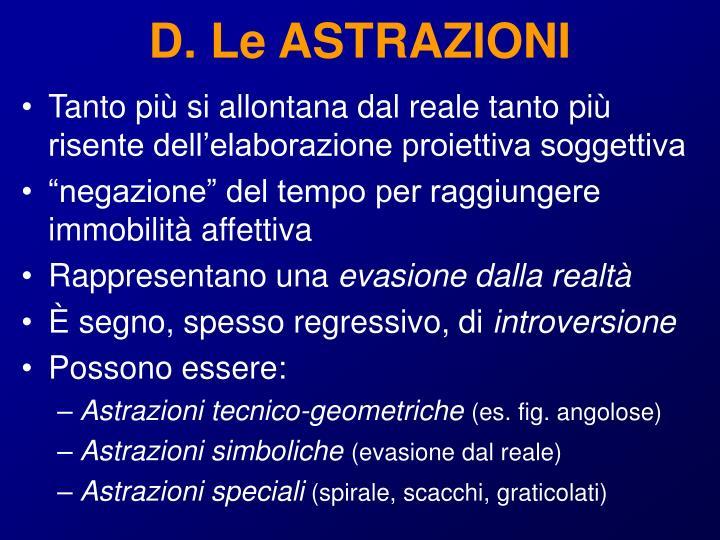 D. Le ASTRAZIONI
