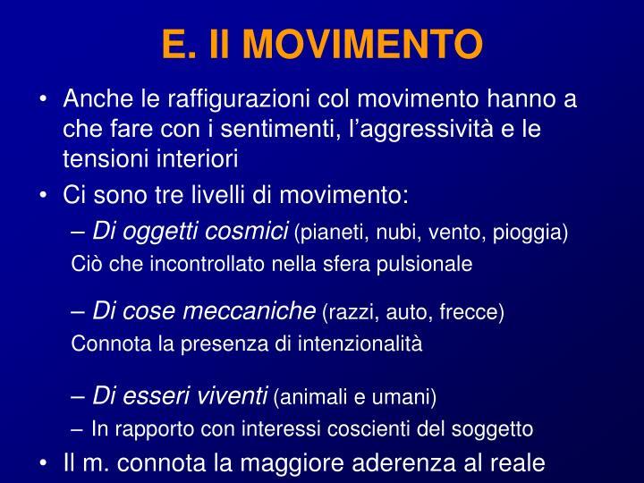 E. Il MOVIMENTO