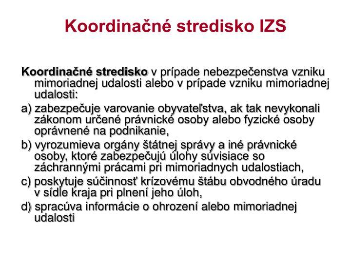 Koordinačné stredisko IZS
