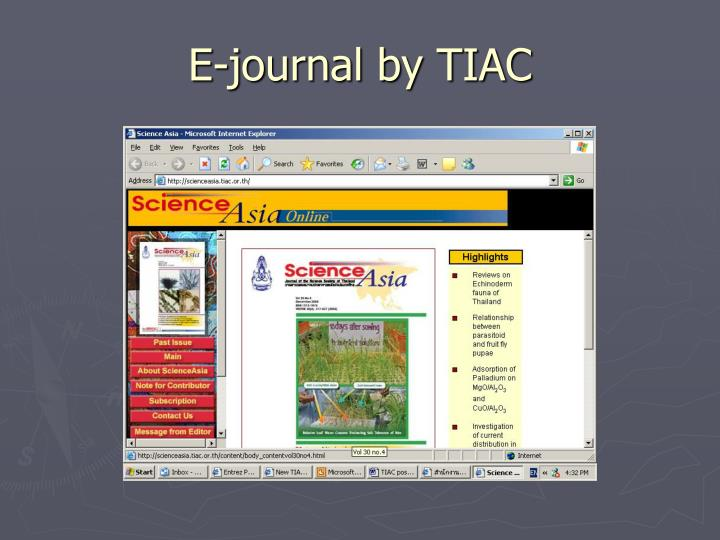 E-journal by TIAC