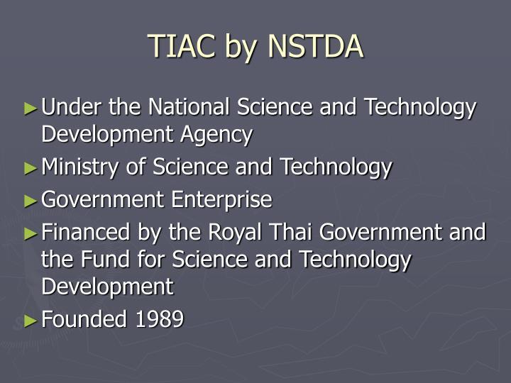 TIAC by NSTDA