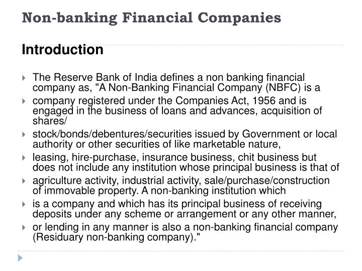 Non-banking Financial Companies
