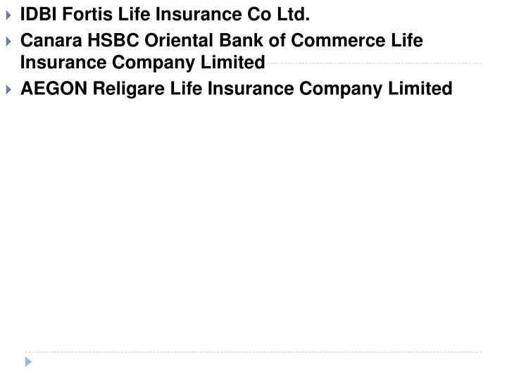 IDBI Fortis Life Insurance Co Ltd.