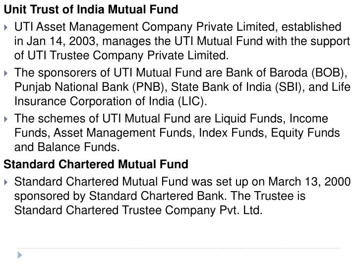 Unit Trust of India Mutual Fund