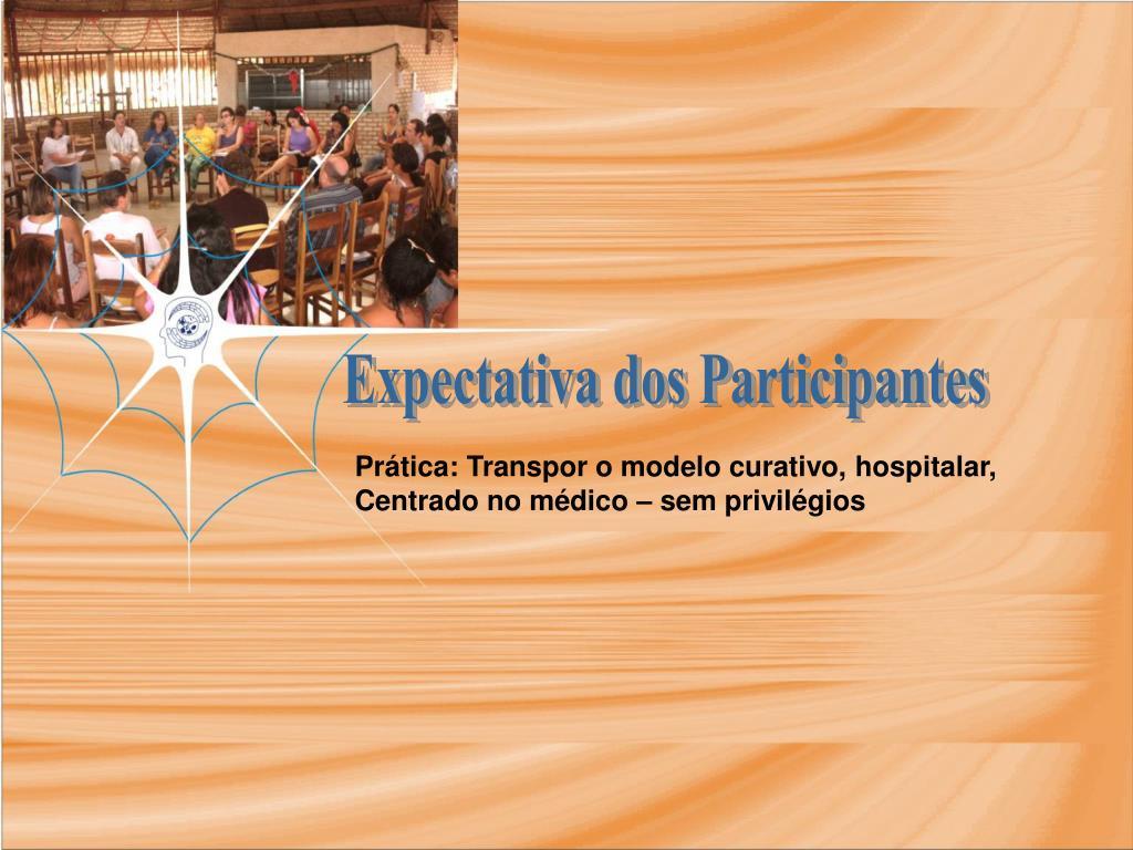 Expectativa dos Participantes