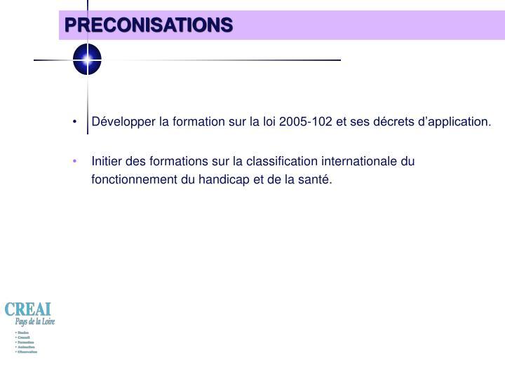 PRECONISATIONS
