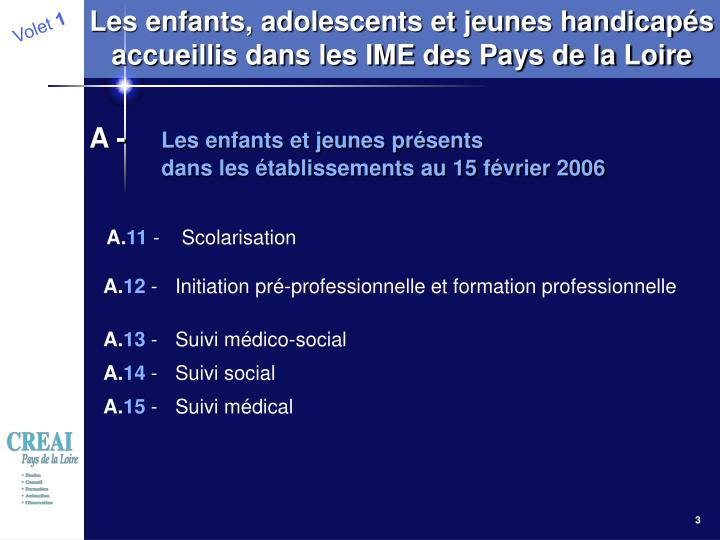 Les enfants, adolescents et jeunes handicapés