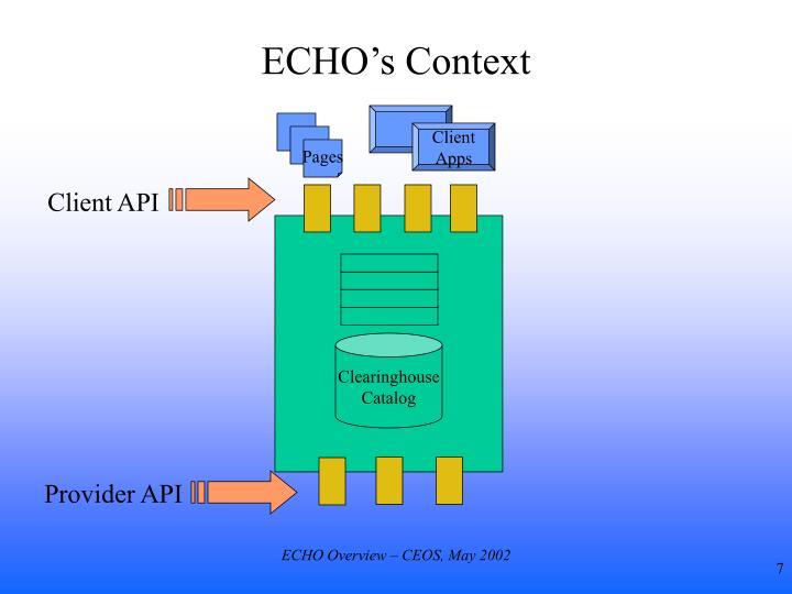 ECHO's Context