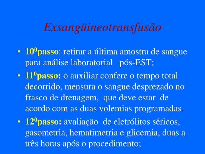 Exsangüineotransfusão