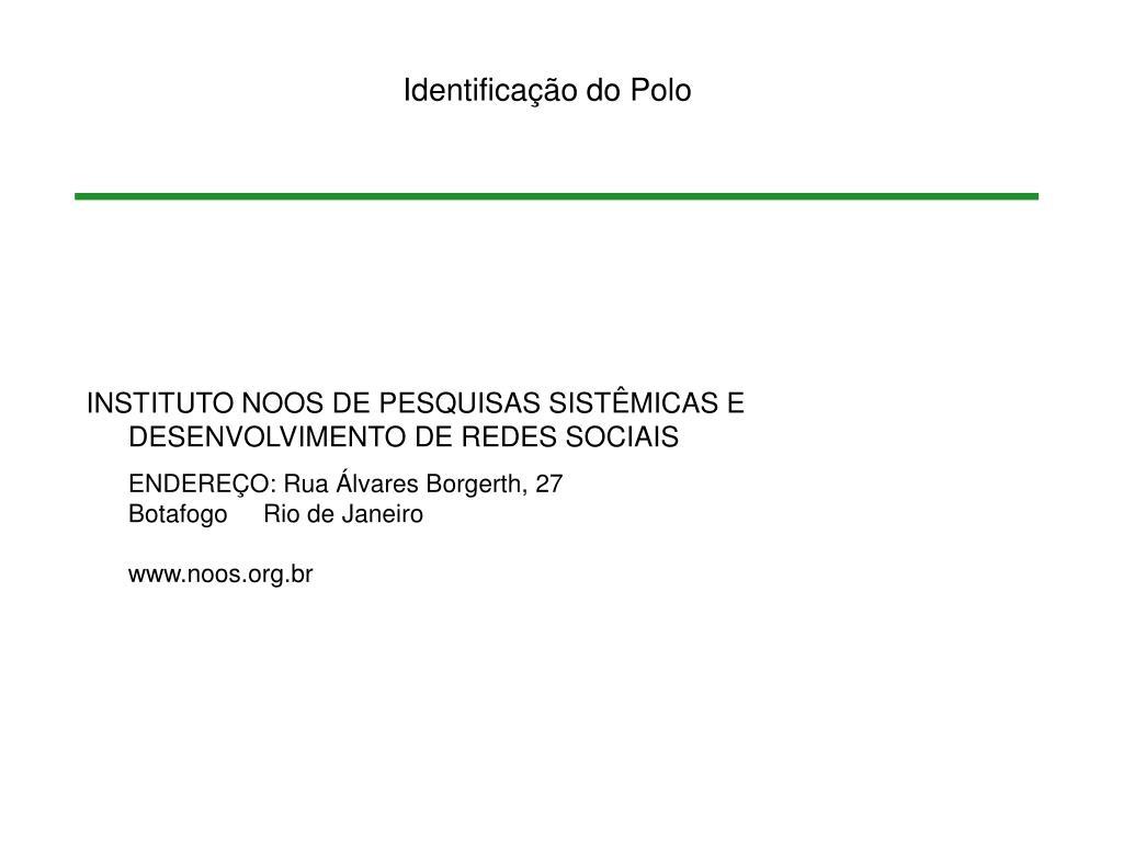 Identificação do Polo
