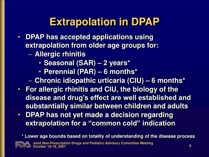 Extrapolation in DPAP