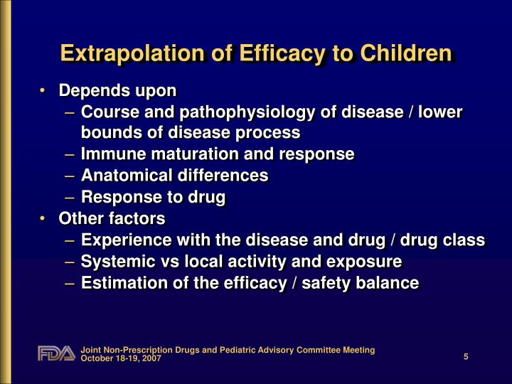 Extrapolation of Efficacy to Children