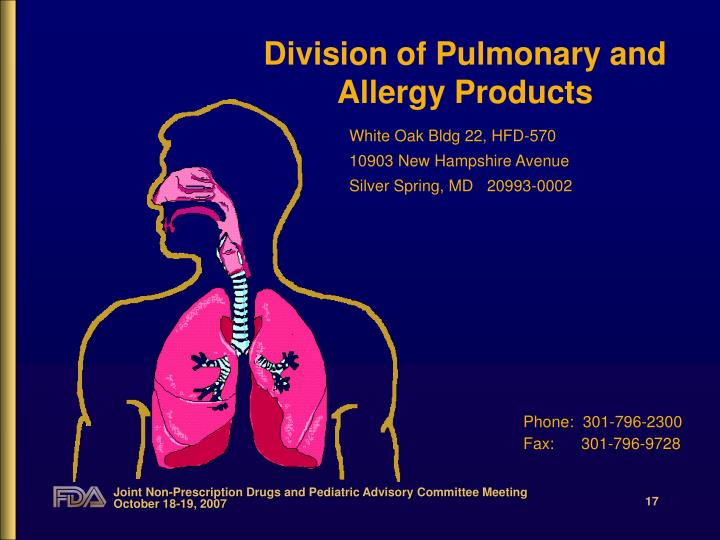 Division of Pulmonary and Allergy Products