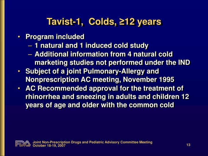 Tavist-1,  Colds,