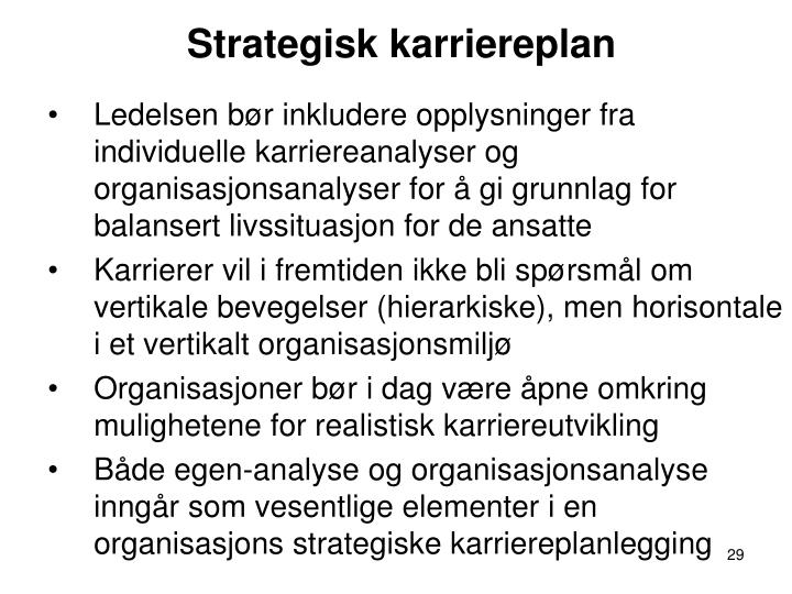 Strategisk karriereplan