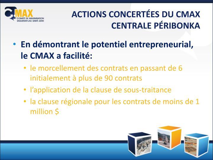 ACTIONS CONCERTÉES DU CMAX