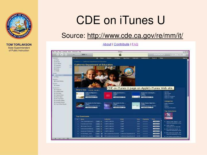 CDE on iTunes U