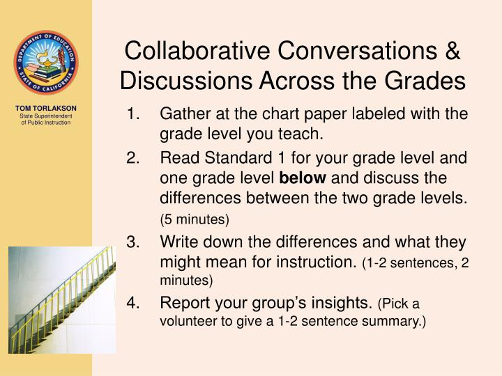 Collaborative Conversations & Discussions Across the Grades