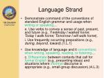 language strand