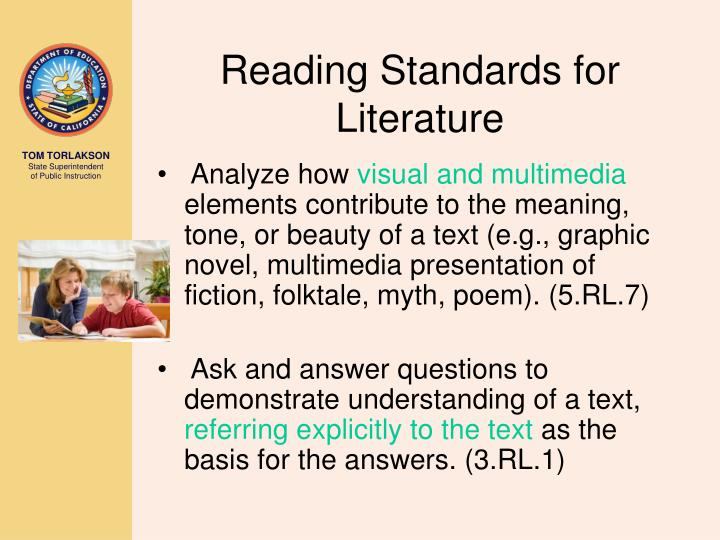 Reading Standards for Literature