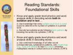 reading standards foundational skills