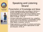 speaking and listening strand1