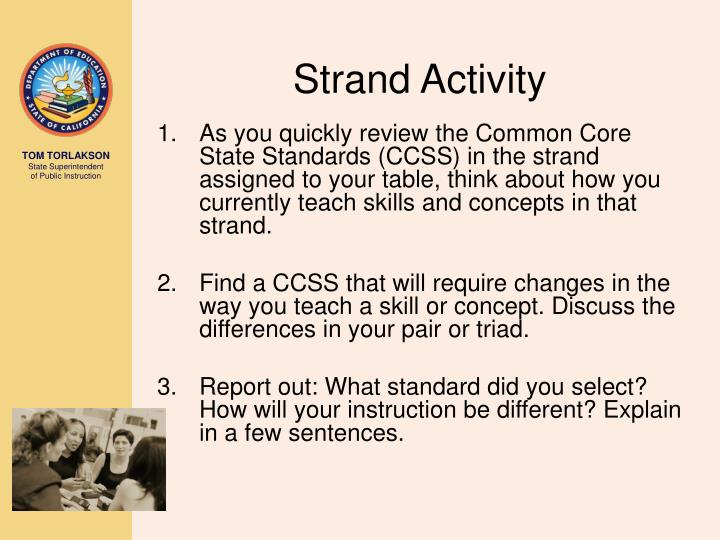 Strand Activity