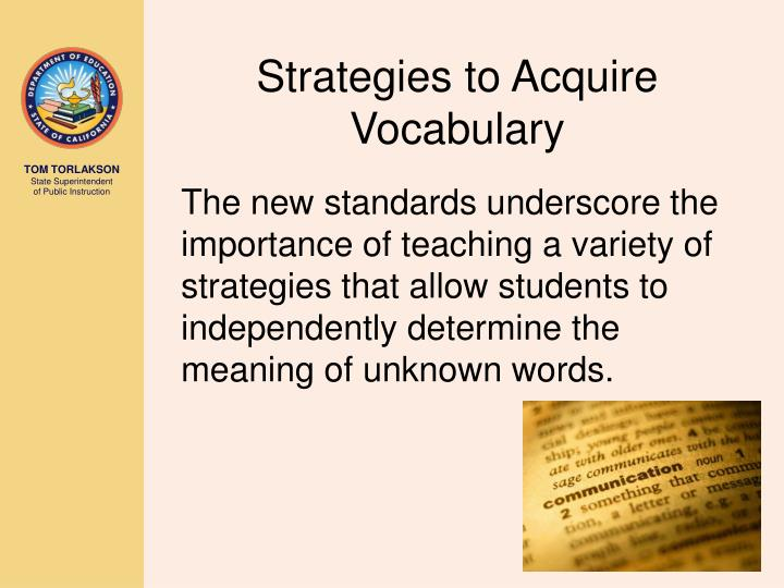 Strategies to Acquire Vocabulary