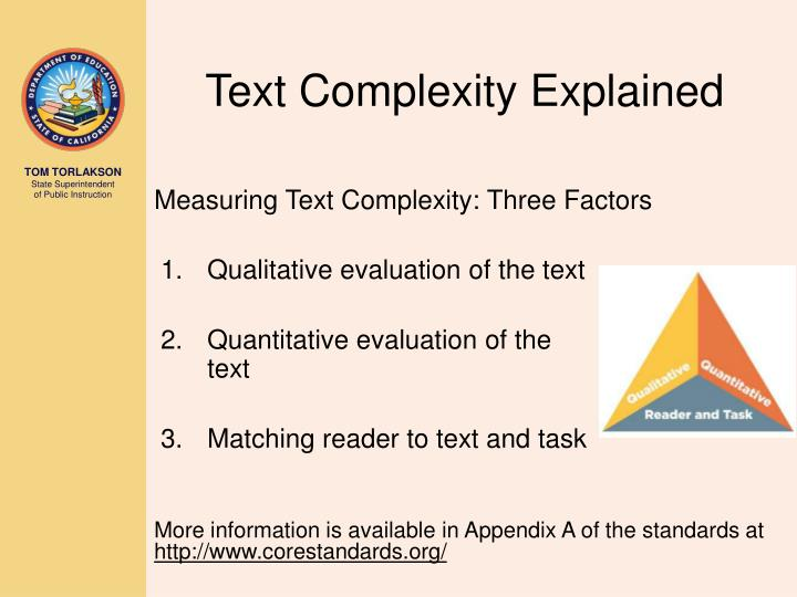 Text Complexity Explained