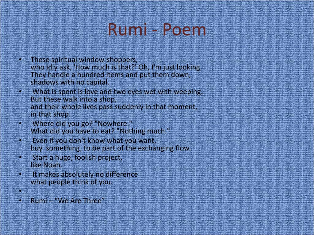 Rumi - Poem