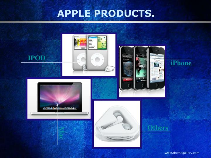 APPLE PRODUCTS.