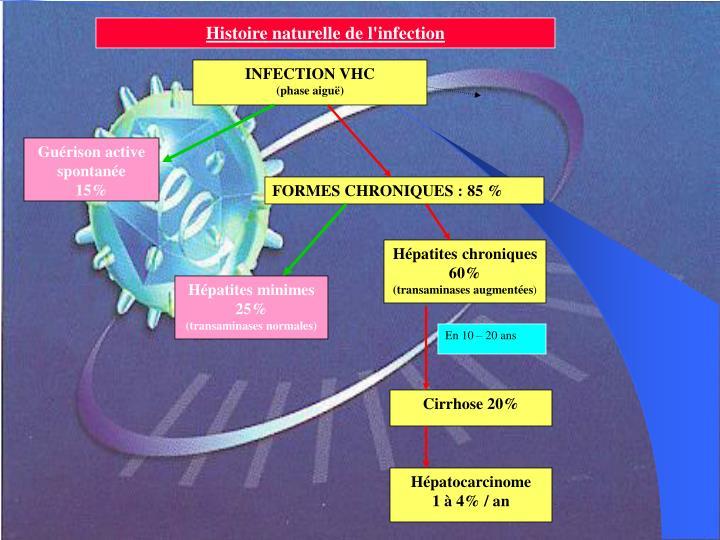 Histoire naturelle de l'infection