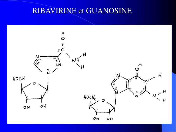 RIBAVIRINE et GUANOSINE