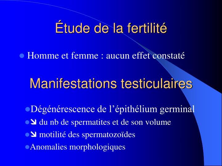 Étude de la fertilité