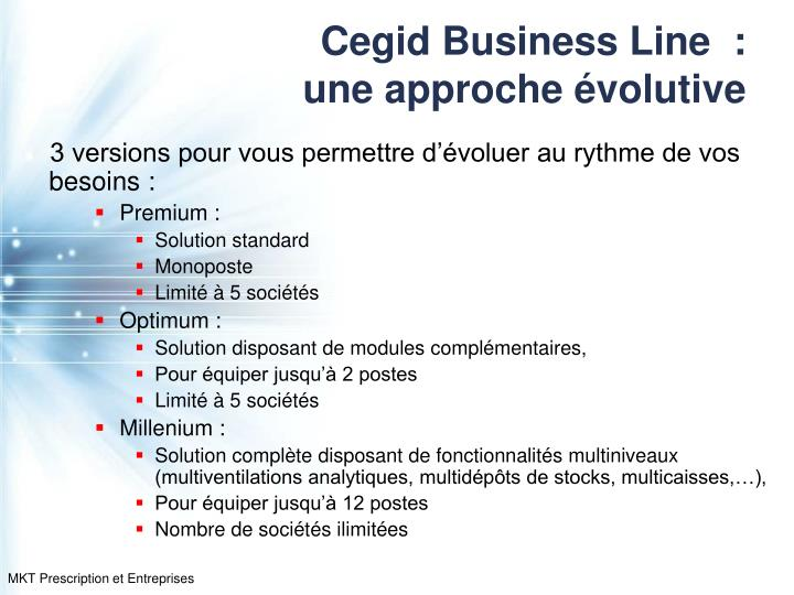 Cegid Business Line  :