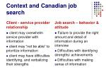 context and canadian job search