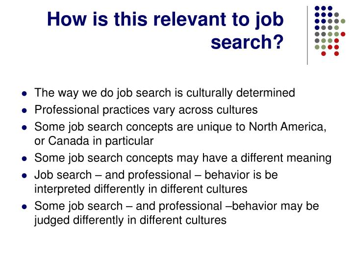 How is this relevant to job search?